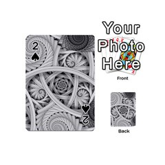Fractal Wallpaper Black N White Chaos Playing Cards 54 (Mini)