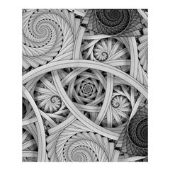 Fractal Wallpaper Black N White Chaos Shower Curtain 60  X 72  (medium)