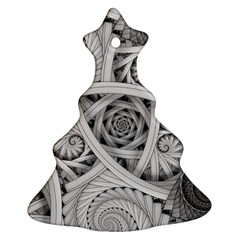Fractal Wallpaper Black N White Chaos Christmas Tree Ornament (Two Sides)