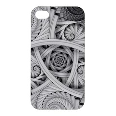 Fractal Wallpaper Black N White Chaos Apple Iphone 4/4s Hardshell Case