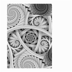 Fractal Wallpaper Black N White Chaos Small Garden Flag (two Sides)