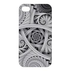Fractal Wallpaper Black N White Chaos Apple Iphone 4/4s Premium Hardshell Case