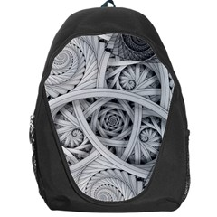 Fractal Wallpaper Black N White Chaos Backpack Bag