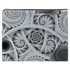 Fractal Wallpaper Black N White Chaos Cosmetic Bag (xxxl)