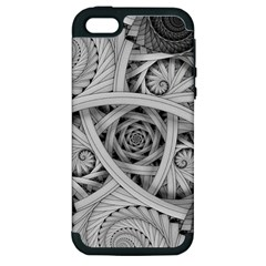 Fractal Wallpaper Black N White Chaos Apple Iphone 5 Hardshell Case (pc+silicone)