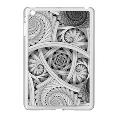 Fractal Wallpaper Black N White Chaos Apple Ipad Mini Case (white)
