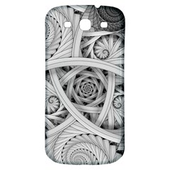 Fractal Wallpaper Black N White Chaos Samsung Galaxy S3 S Iii Classic Hardshell Back Case