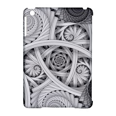 Fractal Wallpaper Black N White Chaos Apple iPad Mini Hardshell Case (Compatible with Smart Cover)