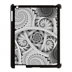 Fractal Wallpaper Black N White Chaos Apple Ipad 3/4 Case (black)