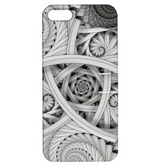 Fractal Wallpaper Black N White Chaos Apple Iphone 5 Hardshell Case With Stand