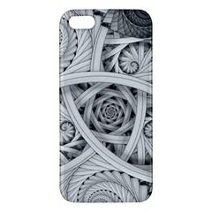 Fractal Wallpaper Black N White Chaos Apple Iphone 5 Premium Hardshell Case