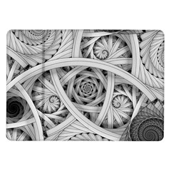 Fractal Wallpaper Black N White Chaos Samsung Galaxy Tab 10 1  P7500 Flip Case