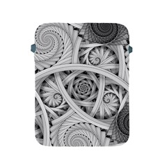 Fractal Wallpaper Black N White Chaos Apple Ipad 2/3/4 Protective Soft Cases