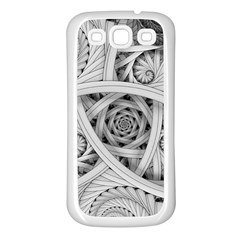 Fractal Wallpaper Black N White Chaos Samsung Galaxy S3 Back Case (white)