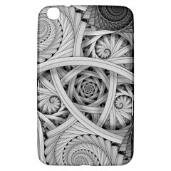 Fractal Wallpaper Black N White Chaos Samsung Galaxy Tab 3 (8 ) T3100 Hardshell Case