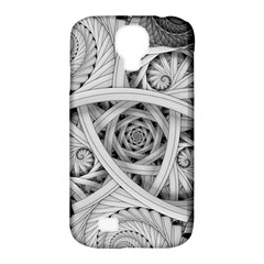 Fractal Wallpaper Black N White Chaos Samsung Galaxy S4 Classic Hardshell Case (pc+silicone)