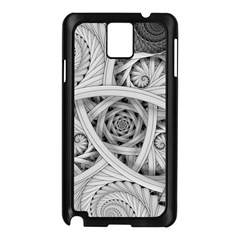 Fractal Wallpaper Black N White Chaos Samsung Galaxy Note 3 N9005 Case (black)