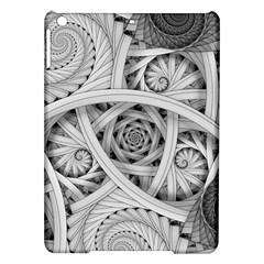 Fractal Wallpaper Black N White Chaos Ipad Air Hardshell Cases