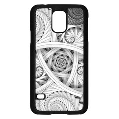 Fractal Wallpaper Black N White Chaos Samsung Galaxy S5 Case (black)