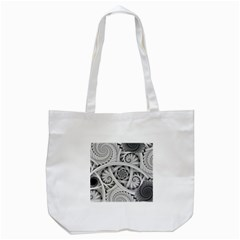 Fractal Wallpaper Black N White Chaos Tote Bag (White)