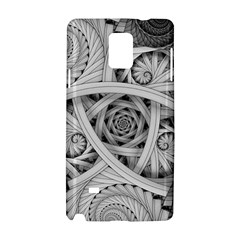 Fractal Wallpaper Black N White Chaos Samsung Galaxy Note 4 Hardshell Case