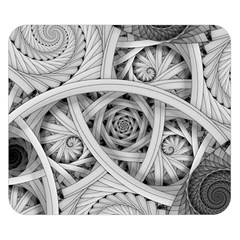 Fractal Wallpaper Black N White Chaos Double Sided Flano Blanket (Small)