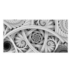 Fractal Wallpaper Black N White Chaos Satin Shawl