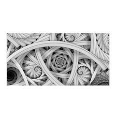 Fractal Wallpaper Black N White Chaos Satin Wrap