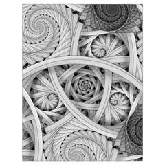 Fractal Wallpaper Black N White Chaos Drawstring Bag (large)