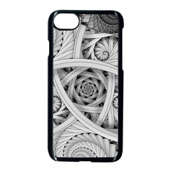 Fractal Wallpaper Black N White Chaos Apple Iphone 7 Seamless Case (black)