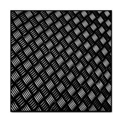 Abstract Of Metal Plate With Lines Tile Coasters