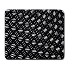 Abstract Of Metal Plate With Lines Large Mousepads