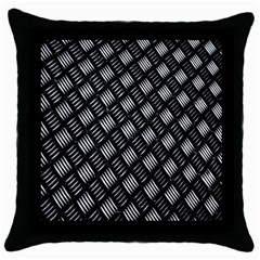 Abstract Of Metal Plate With Lines Throw Pillow Case (Black)