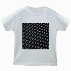 Abstract Of Metal Plate With Lines Kids White T-Shirts