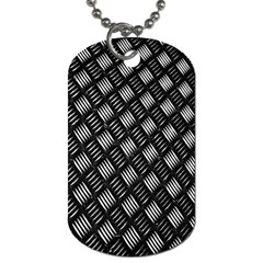 Abstract Of Metal Plate With Lines Dog Tag (one Side)