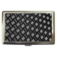 Abstract Of Metal Plate With Lines Cigarette Money Cases