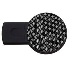Abstract Of Metal Plate With Lines USB Flash Drive Round (1 GB)