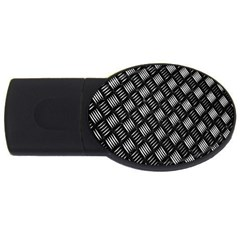 Abstract Of Metal Plate With Lines USB Flash Drive Oval (2 GB)