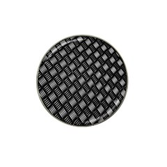 Abstract Of Metal Plate With Lines Hat Clip Ball Marker (4 Pack)