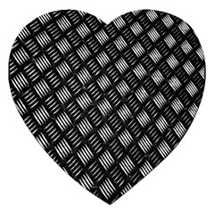 Abstract Of Metal Plate With Lines Jigsaw Puzzle (heart)