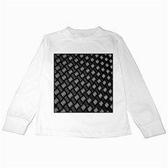 Abstract Of Metal Plate With Lines Kids Long Sleeve T Shirts