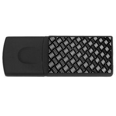Abstract Of Metal Plate With Lines Usb Flash Drive Rectangular (4 Gb)