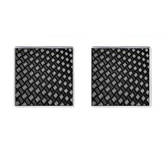 Abstract Of Metal Plate With Lines Cufflinks (square)