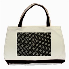 Abstract Of Metal Plate With Lines Basic Tote Bag