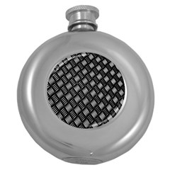 Abstract Of Metal Plate With Lines Round Hip Flask (5 oz)