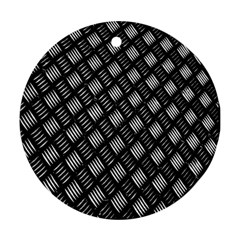 Abstract Of Metal Plate With Lines Round Ornament (two Sides)