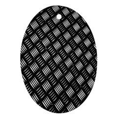 Abstract Of Metal Plate With Lines Oval Ornament (two Sides)
