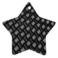 Abstract Of Metal Plate With Lines Star Ornament (two Sides)