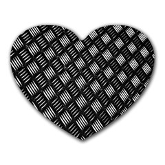 Abstract Of Metal Plate With Lines Heart Mousepads