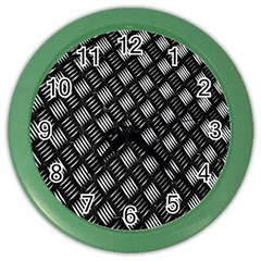 Abstract Of Metal Plate With Lines Color Wall Clocks